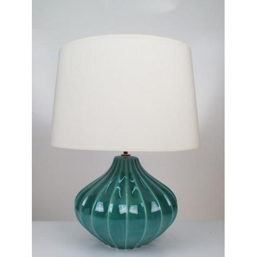 Aqua Blue Hand Made Glazed Garlic Table, Aqua Blue Lamp Shades