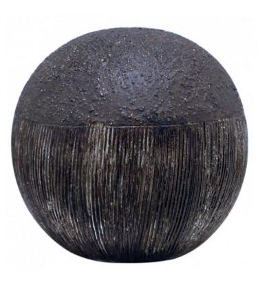 Textured Copper Decor Ball Bronze 10cm