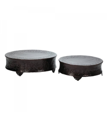Set of 2 Copper Moroccan Table