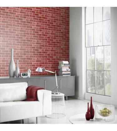 Red Brick Effect Wallpaper 5sqm