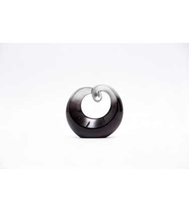 Black and Silver Swirl Sculpture 19cm