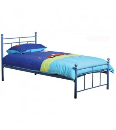 Boys Blue Single (3ft) Metal Bed
