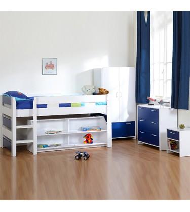Boys Bedroom Sleeper Set Blue