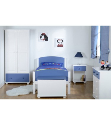 Solid Pine Boys Bedroom Set Blue and White