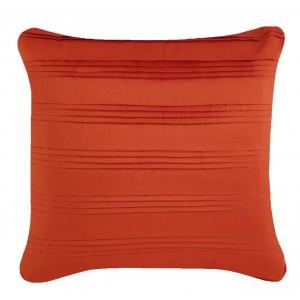 Pleated Taffeta Cushion Orange