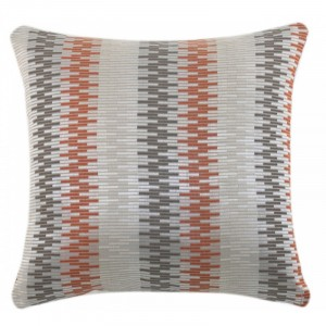 Abstract Pattern Cushion Orange and Grey
