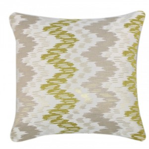 Zig Zag Cushion Green