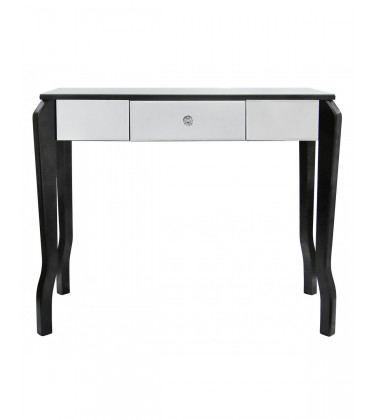 Black Trim One Drawer Console Table