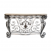 Elegant Marble Effect Console Table and Mirror Set