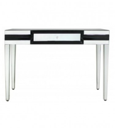 Black Premium Mirror Console Table