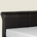 Brook Faux Leather Bed 5ft by 6ft