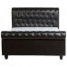Chester Leather Bed 5ft by 6ft Black