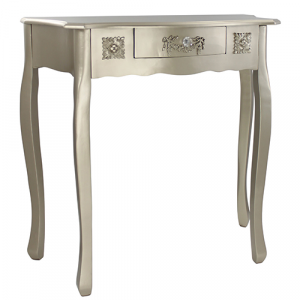 Champagne Wood One Drawer Console Table