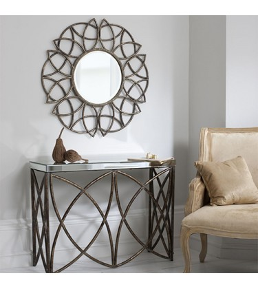 Galbeck Rustic Console Table and Mirror