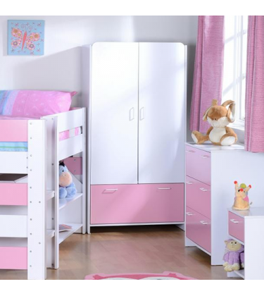 Girls Bedroom Sleeper Set Pink