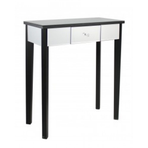 Black Mirror One Drawer Console Table