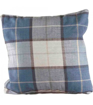 Check Cushion Blue