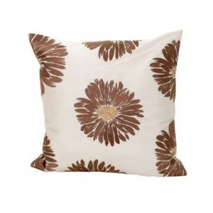 Cream Brown and Gold Cushion