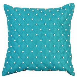 Small Pearl Cushion Turquoise Blue