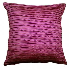 Viva Crinkle Cushion Fuchsia