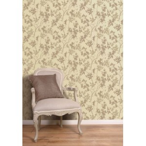 Vine Motif Neutral Wallpaper 5sqm
