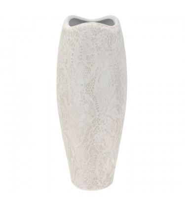 White Curve Textured Lace Vace 28cm