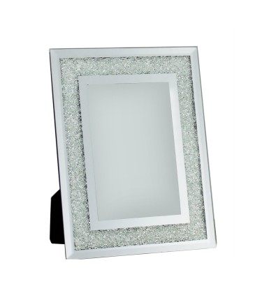 Silver Diamond Crush Small Photo Frame