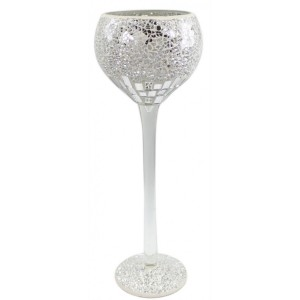 Mosaic Decorative Goblet Silver (Large)