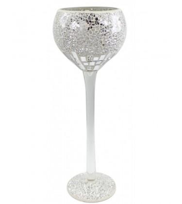 Mosaic Decorative Goblet Silver (Large)