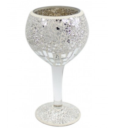 Mosaic Decorative Goblet Silver (Small)