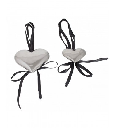 Chrome Heart Shaped Decoration