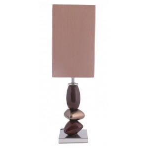 Small Pebble Table Lamp Brown and Bronze