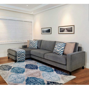 Idanre Blues L Shape Sofa