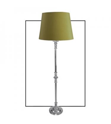 Large Chrome Floor Lamp Green