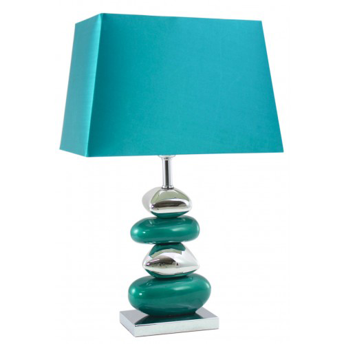 Pebble table lamp blue with 13 shade aloadofball Image collections
