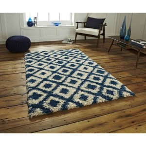 Madic Soft Shaggy Rug Blue and Beige