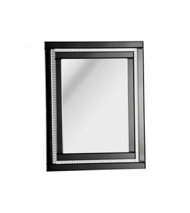 Black Statement Glass Mirror