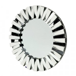 Black and Glass Sunburst Mirror