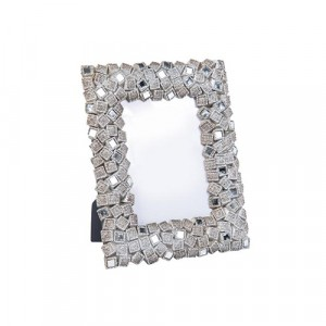 "Enza Mosaic Nickel Photo Frame 4"" by 6"""