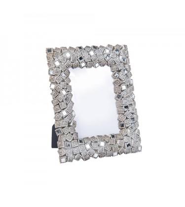 "Enza Mosaic Nickel Photo Frame 4"" by 6"""