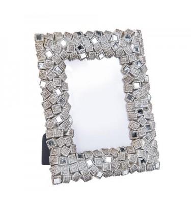 "Enza Mosaic Nickel Photo Frame 5"" by 7"""