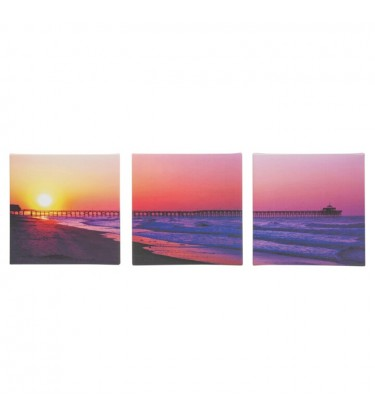 Bridge Over Sea Set of 3 Canvas Wall Art
