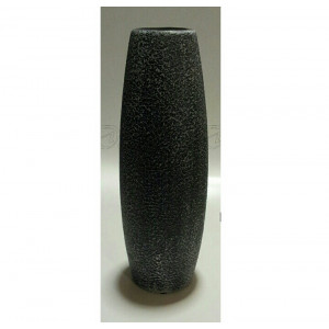 Black and Grey Textured Bullet Vase 30cm