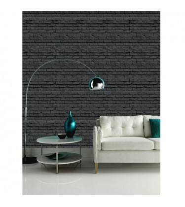 Black Brick Effect Wallpaper 5sqm