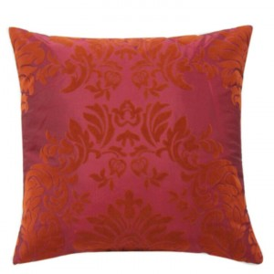 Flock Cushion Red