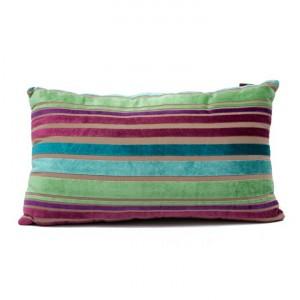 Striped Cushion Teal