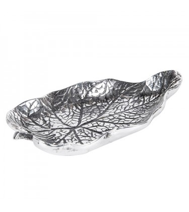 Silver Decorative Leaf Dish 20cm