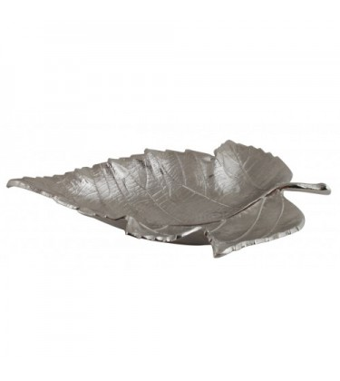 Aluminum Leaf Decorative Tray 43cm