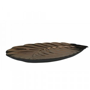 Bronze 3D Decorative Leaf Plate