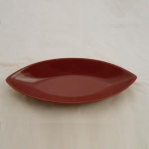 Burgundy Oval Shape Ceramic  Décor Dish